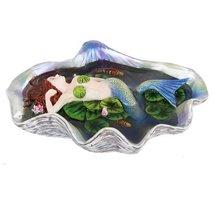 6.75 Inch Elan Vital Swimming Mermaid in Pond Statue Figurine - $32.07