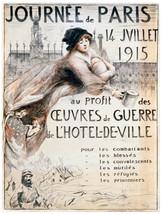 Quality POSTER.Journee de Paris.Hotel de Ville.Interior Design art Nouve... - $9.90+