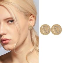 Cleo Gold Plated Coin Earrings - $18.95