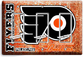 Philadelphia Flyers Hockey Team Triple Rocker Light Switch Wall Plate Room Decor - $16.19