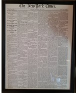 The Civil War Begins! Framed Recreation of the NY Times April 14, 1861 f... - $24.99