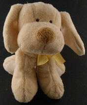 Ganz Baby Tan Lovey Puppy with Rattle Inside Sewn Eyes Ages 0+ Soft Cudd... - $10.29