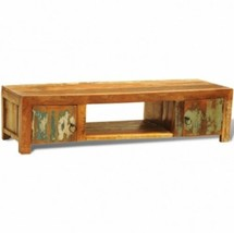 Reclaimed Wood TV Cabinet With 2 Doors Vintage Antique-style - $291.12