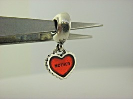 PANDORA Piece Of My Heart, Mother Red Enamel Charm  - $22.54