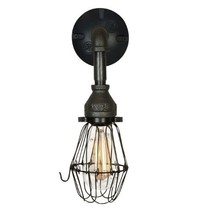 Industrial Iron Wall Sconce, Edison Antique-Style Hallway Lighting - $69.00