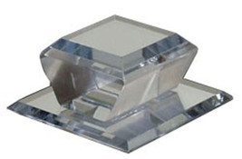 """Clear Acrylic Beveled Stick-On Mirror Knob - 2"""" Square - $20.95"""