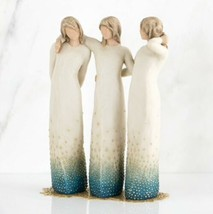 BY MY SIDE SIGNATURE COLLECTION SCULPTURE HAND PAINTED WILLOW TREE SUSAN... - $186.12