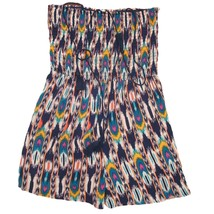 Xhilaration Womens Blue Pink White Print Strapless Casual Shorts Romper S - $18.64 CAD