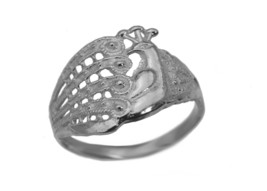 Peacock Ring Protect and deflect evil eye 925 Sterling Silver Jewelry Pi... - $37.82