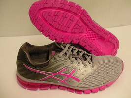 Asics women's gel quantum 180 2 running shoes midgrey pink glow size 7.5 us - $128.65