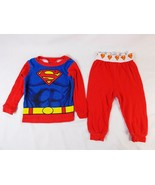 DC Comics Superman Infant Boys 18M 2 Piece PJ Pajama Sleepwear Long Slee... - $7.91