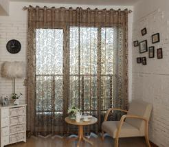 "Luxury Sheer Cozy Curtain Panel Dolce Mela DMC473 60"" wide x 100"" tall B... - $66.97"
