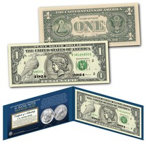 Authentic $1 Bill commemorating 100th Anniversary first PEACE DOLLAR Sil... - $13.98