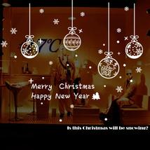 (02)2017 New Christmas Wall Sticker Merry Christmas Window Sticker Snowf... - $18.00