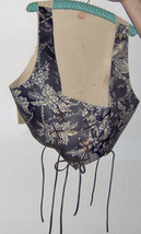 Custom Made! Fashion Suede Renaissance Festival Vest Leather, Silver Ton... - $156.86