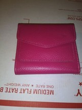 Pink Woman's Wallet With Clasp And Zipper Very Clean- Strong Zipper- Pre... - $5.29