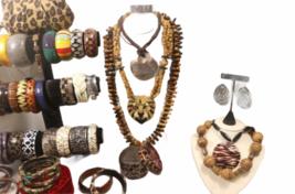 Large Safari Jungle Inspired Jewelry 10lb Lot Necklace Bracelet Earrings Clutch image 4