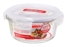 Boroseal 12.85 Oz. Heat Resistant Round Glass Container - $26.13