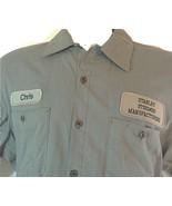 Vintage Stanley Steemer Shirt Uniform Men's Size L. Carpet Cleaning Hall... - $16.00