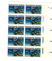 USPS Stamps - Commercial Aviation 13c - Plate Block of 10 Stamps - MNH (... - $5.95