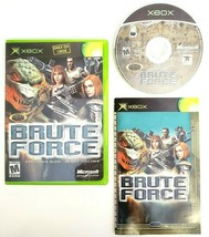 Brute Force (Original Microsoft Xbox 2003) Complete with Manual CIB Blac... - $9.45
