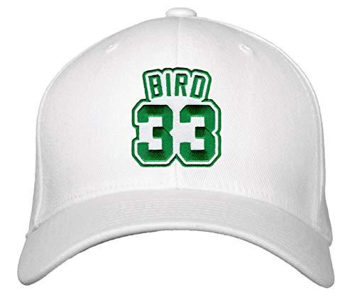 Larry Bird Hat - Boston Basketball Adjustable Cap (White)