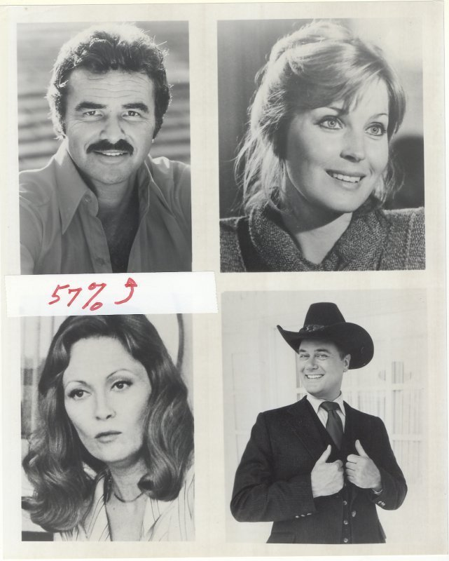 Primary image for Burt Reynolds Bo Derek Faye Dunaway Larry Hagman Press Publicity Photo Dallas