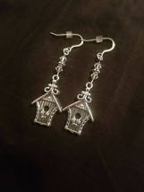 Swarovski Birdhouse Earrings Sterling Silver Fish Hooks Jewelry Handcraf... - $14.89