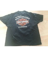 Vintage Harley Davidson T Shirt Single Stitch Black Indiana Size XXL 100... - $32.43
