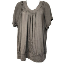 JM Collection Brown clay Short sleeve Blouse Plus Size 2X - $19.79