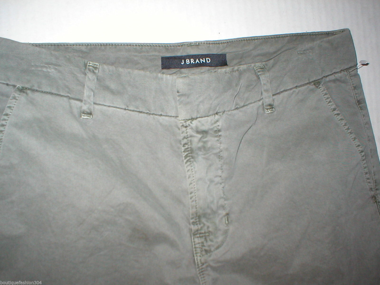 New J Brand Jeans Relaxed Womens Parker Vin Fort 25 Chino Pant Army Green Cotto image 2