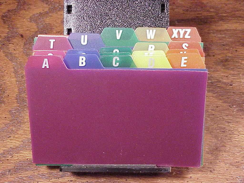 Set of Oxford 3 x 5 Color Plastic Index Card Guides, A to Z, no. 73153 - $4.95