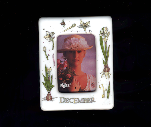 FREE WITH PURCHASE~December Ceramic Photo Frame