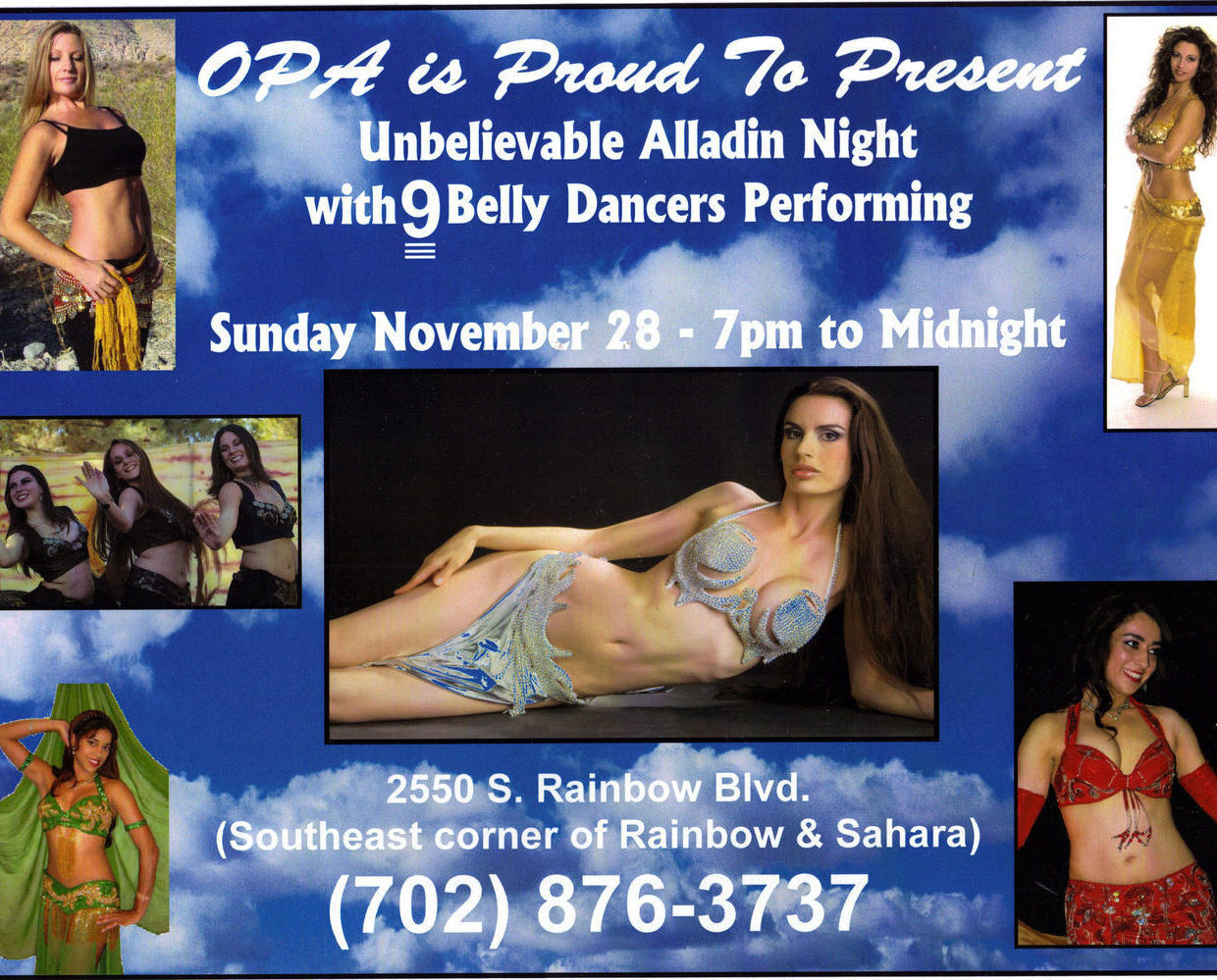 OPA Presents 9 Belly Dancers Soft Poster