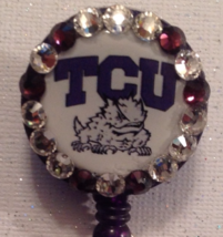 Ncaa Tcu Badge Reel - Tcu Badge - Tcu - Tcu Id - Tcu Id Holder - Tcu Lan... - $9.95