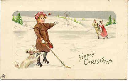 Happy Christmas Vintage Post Card