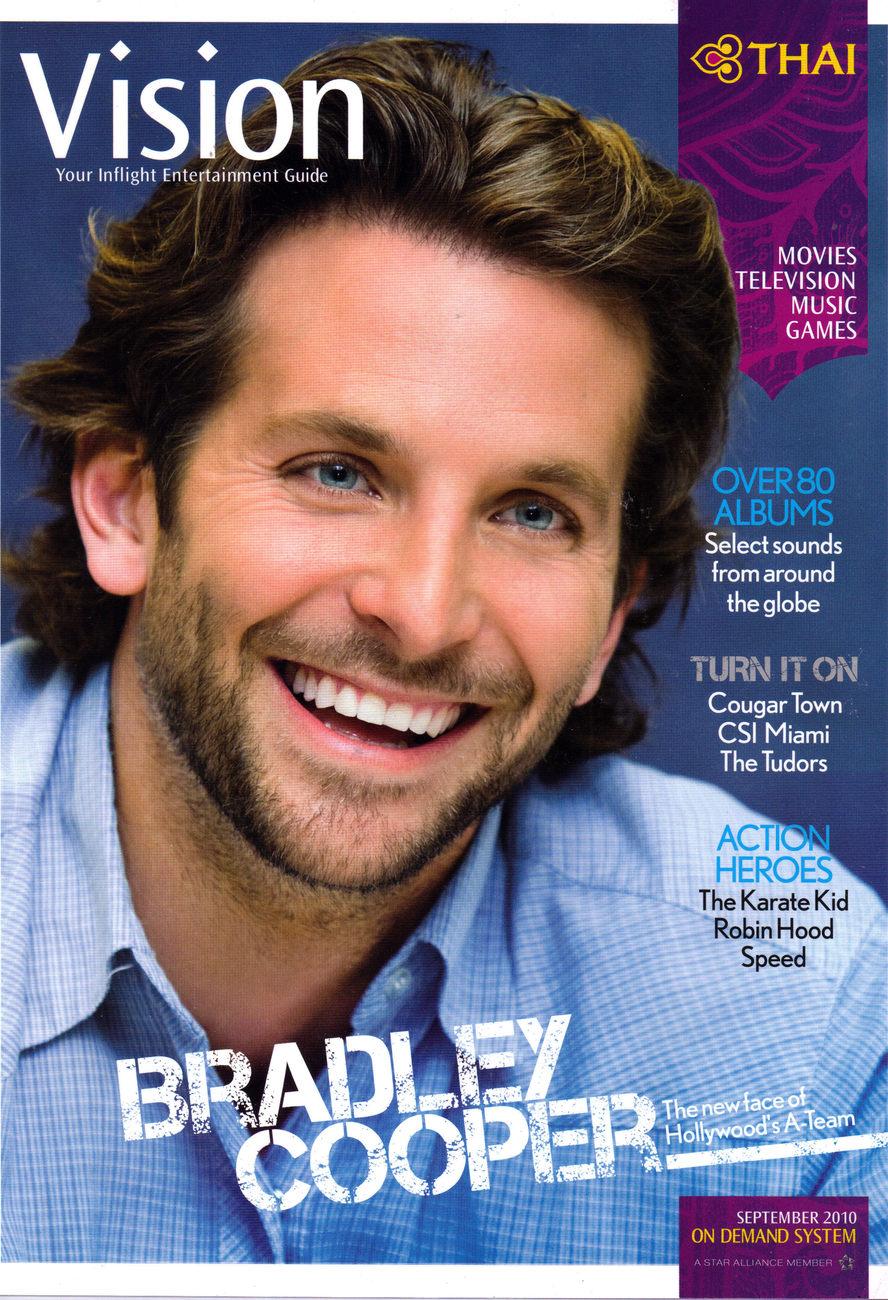 BRADLEY COOPER @ THAI VISION Magazine Sept 2010