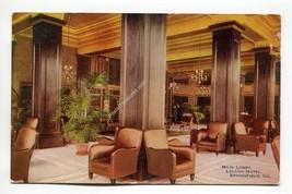 Main Lobby Leland Hotel Springfield Illinois - $3.99