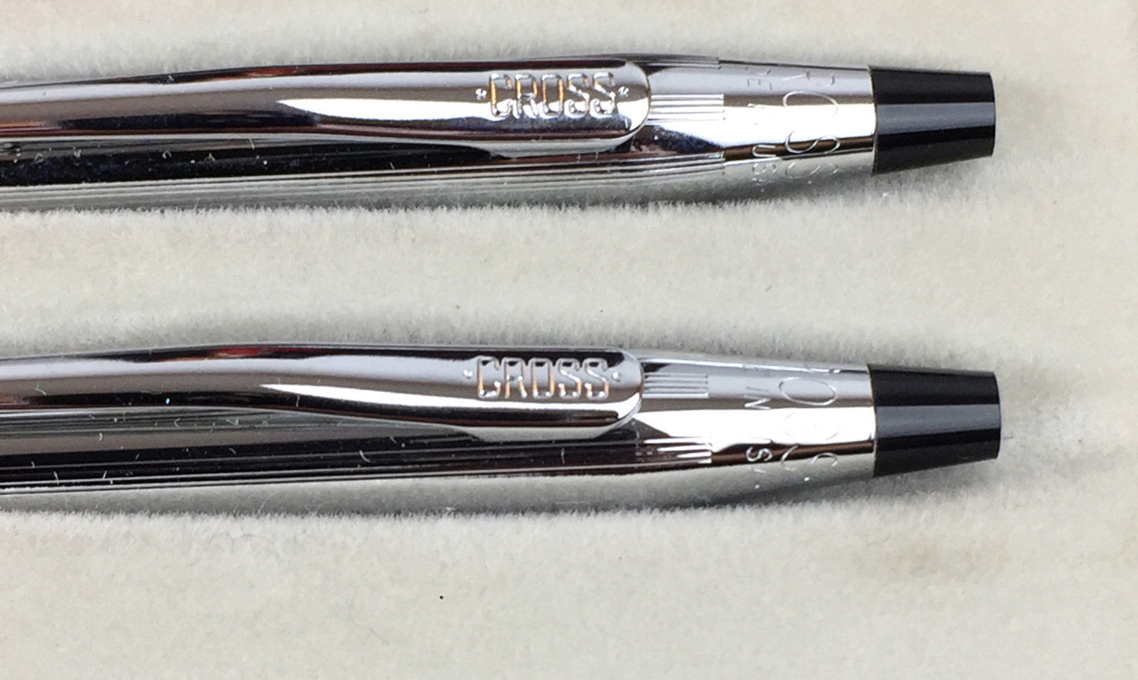 """Cross Chrome Set Pen & Mechanical Pencil Advertising inscribed """"Bethany Homes"""""""