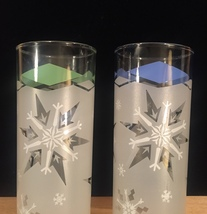 Vintage 70s atomic snowflake collins cocktail glasses image 4