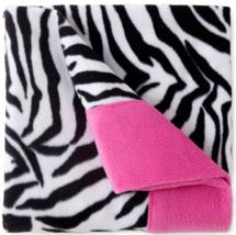 NEW Sunbeam Super-soft Heavyweight Fleece Sheet Set zebra Striped TWIN Size - $42.70