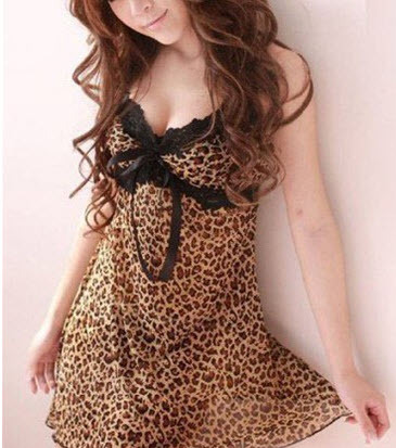8021 Sexy halter dress with leopard skin print,Free size, fit to s/m/l, image 2