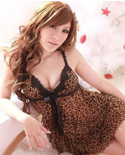 8021 Sexy halter dress with leopard skin print,Free size, fit to s/m/l, image 4