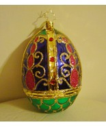 Christopher Radko BEDECKED AND BEJEWELED Glass Easter Egg Ornament   - $73.56 CAD