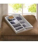 Photo Frame Tray Wooden and Glass Holds 7 Pictures - $36.95
