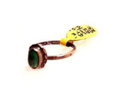 Early Sterling Silver with Malachite Stone Ladies Ring - $21.95