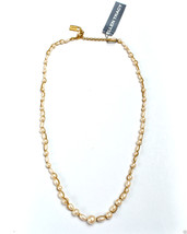 """Ellen Tracy Goldtone Simulated Pearl Necklace 22"""" New Signed - $14.99"""