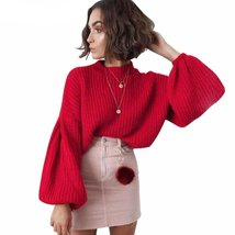 Knitted Bell Sleeve Pullover - $37.00