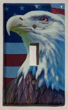 Patriot Bald Eagle US Flag Light Switch Power Outlet Wall Cover Plate Home Decor image 1