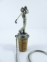 """Wine Things Unlimited Golfer Bottle Stopper Solid Pewter 3.25"""" Handcraft... - $17.81"""